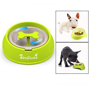 Itian Pet Dog Slow Feeder Bowl avec forme osseuse Rotating Hinder, Interactive Feed Bowl, Eating Sport Dog Bowl, Small size, vert de la marque Itian image 0 produit