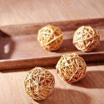 Jia HU Lot de 20boules en rotin fête de mariage à suspendre d'équilibre Boule de Noël décoratifs 5cm, blanc de la marque Jia Hu image 2 produit