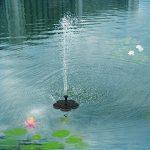 Ledgle [NOUVELLE VERSION] 1.5W Mini Fontaine Solaire Jardin Pompe Flottante Pompe à Eau Solaire avec Débit Maximum 180L/H et Jet d'eau 45CM pour la Décoration de Baignoire D'oiseaux, Etang, Bassin de la marque Ledgle image 4 produit