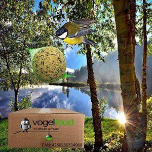 Lot de 200boules de graisse pour nourrir les oiseaux, avec filets 200 x 90g = 18kg de la marque vogelfood Samore GmbH image 0 produit