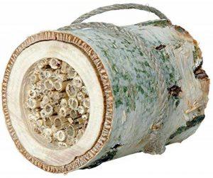 Luxus-Insektenhotels 22615e Nichoir pour insectes «Cylindre pour abeilles solitaires» - Bouleau et roseau (Hôtel à insectes) de la marque Luxus-Insektenhotels image 0 produit