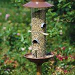 Luxus-Vogelhaus 28810 Mangeoire pour oiseaux en colonne avec support en bois - design cuivré exclusif - 33cm de la marque Luxus-Vogelhaus image 4 produit