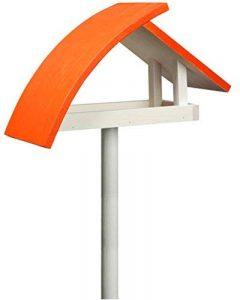 Luxus-Vogelhaus 31012e New Wave Mangeoire pour oiseaux avec pied de support Blanc/toit orange Hauteur totale env. 183cm de la marque Luxus-Vogelhaus image 0 produit