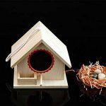 MagiDeal Boîte de Nid D'oiseaux Nichoir Suspendu Jardinage Bird House Craft Nature en Bois Corde - 20 x 23x 18cm de la marque non-brand image 4 produit