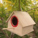 MagiDeal Boîte de Nid D'oiseaux Nichoir Suspendu Jardinage Bird House Craft Nature en Bois Corde - 20 x 23x 18cm de la marque non-brand image 3 produit