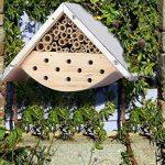 Maison d'abeilles pour abeilles solitaires, hôtel d'insecte pour les amants d'abeille, idée parfaite de cadeau pour les gardiens d'abeille de la marque LA JOLIE MUSE image 3 produit