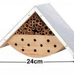 Maison d'abeilles pour abeilles solitaires, hôtel d'insecte pour les amants d'abeille, idée parfaite de cadeau pour les gardiens d'abeille de la marque LA JOLIE MUSE image 1 produit