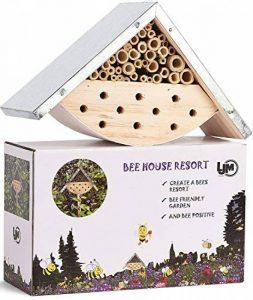 Maison d'abeilles pour abeilles solitaires, hôtel d'insecte pour les amants d'abeille, idée parfaite de cadeau pour les gardiens d'abeille de la marque LA JOLIE MUSE image 0 produit