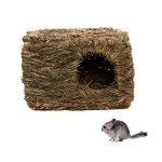 Maison de Petit Animal Herbe Séché Rectangle Cabine Décor Cage de la marque Générique image 1 produit