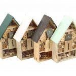 Maison à insectes en Bois Naturel et Bambou - Anti nuisibles & Pesticide Naturel de la marque image 1 produit