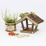 Mangeoire d'oiseaux du jardin, ecologique en bois, differents modeles au choix; modele 3 de la marque TINTOURS image 3 produit