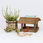 Mangeoire d'oiseaux du jardin, ecologique en bois, differents modeles au choix; modele 4 de la marque TINTOURS image 2 produit