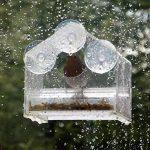 Mangeoire de fenêtre pour oiseaux, dans un cadre brillant, avec plateau d'alimentation coulissant, en plexiglas transparent; résistant aux intempéries, aux écureuils, et à l'eau de pluie pour garder les graines d'oiseau au sec. de la marque Chrysalis Pro image 4 produit