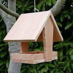 Mangeoire grand plateau couverte, mangeoire oiseaux en bois massif, Fabrication artisanale de la marque Nichoirs-Mangeoires image 1 produit