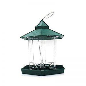 Mangeoire à oiseaux pavillon de jardin, mangeoire oiseaux pour extérieur à suspendre à un arbre de la marque Easybuy image 0 produit