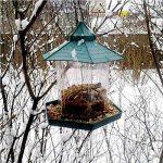 Mangeoire à oiseaux pavillon de jardin, mangeoire oiseaux pour extérieur à suspendre à un arbre de la marque Easybuy image 3 produit