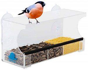 Mangeoire à oiseaux pour vitre de fenêtre, transparent, avec ventouse de la marque Happy Piepmatz image 0 produit
