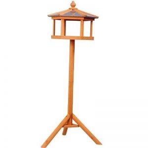 Mangeoire sur pied nichoir a plateau station a oiseau bois pour exterieur 113cm 06 de la marque Homcom image 0 produit