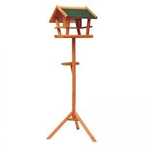 Mangeoire sur pied nichoir a plateau station a oiseaux bois pour exterieur 150cm 01 de la marque Homcom image 0 produit