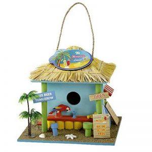 Michel-Toys Nichoir à oiseaux mangeoire nichoir Cabine de plage bois décoratif de la marque Michel-Toys image 0 produit