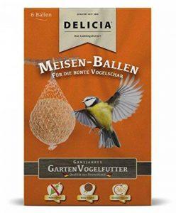 Mésange Delicia Balle de graisse pour oiseaux sauvages Doublure Hiver, Lot de 6 de la marque Delicia image 0 produit