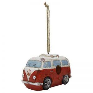 Nichoir à Oiseaux à Suspendre Modèle Camping-Car VW en Polyrésine Rouge de la marque Gardens2you image 0 produit