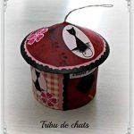Nichoir décoratif Tribu de chats, fleurs et vichy rose de la marque Tribu de chats image 1 produit