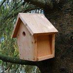 Nichoir maisonnette pour oiseaux mésanges Ø32mm en bois, fabrication artisanale de la marque Nichoirs-Mangeoires image 5 produit