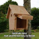 Nichoir maisonnette pour oiseaux mésanges Ø32mm en bois, fabrication artisanale de la marque Nichoirs-Mangeoires image 4 produit