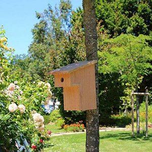 Nichoir oiseaux à balcon pour mésanges charbonnières Ø32mm en bois, Fabrication artisanale de la marque Nichoirs-Mangeoires image 0 produit