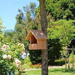 Nichoir oiseaux semi ouvert pour Rougegorges,... en bois massif, fabrication artisanale de la marque Nichoirs-Mangeoires image 0 produit