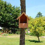 Nichoir oiseaux semi ouvert pour Rougegorges,... en bois massif, fabrication artisanale de la marque Nichoirs-Mangeoires image 1 produit