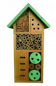 Nid-hôtel en bois pour insectes/abeilles/coccinelles Heritage - Toit vert - À fixer Small Insect Hotel de la marque Heritage Pet Products image 0 produit