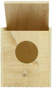 Nobby Nichoir avec Perche/Grand Trou pour Oiseau Exotique 11 x 11 x 13 cm de la marque Nobby image 0 produit