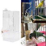 Nouveau À La Mode Acrylique Pet Oiseaux Graines Nourriture Feeder Cage Jouet Transparent Parrot Alimentaire Tube Alimentaire Cage avec Perche Cage Accessoires Perruche Graine Alimentaire Conteneur de la marque Estink image 1 produit