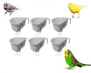 * Nouveau * Lot de 6Wundapets 6.5cm en plastique Bird perruches Cage à suspendre Mangeoire Gamelle de la marque WUNDAPETS image 0 produit