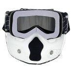 Nouveau Style de ski snowboard Mortorcycle Masque amovible Masque de vol d'oiseau d'équitation Masque de bouche filtre pour casque à visage ouvert Mode Lunettes de la marque Nawenson image 3 produit