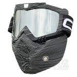 Nouveau Style de ski snowboard Mortorcycle Masque amovible Masque de vol d'oiseau d'équitation Masque de bouche filtre pour casque à visage ouvert Mode Lunettes de la marque Nawenson image 1 produit