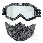 Nouveau Style de ski snowboard Mortorcycle Masque amovible Masque de vol d'oiseau d'équitation Masque de bouche filtre pour casque à visage ouvert Mode Lunettes de la marque Nawenson image 4 produit