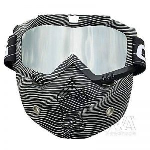 Nouveau Style de ski snowboard Mortorcycle Masque amovible Masque de vol d'oiseau d'équitation Masque de bouche filtre pour casque à visage ouvert Mode Lunettes de la marque Nawenson image 0 produit
