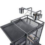 OHholly Cages à oiseaux Avancé 144 * 65 * 65CM pour perroquets, Canari, cacatoès, inséparables etc Nichoirs pour oiseaux divers, noir de la marque OHholly image 2 produit