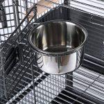 OHholly Cages à oiseaux Avancé 144 * 65 * 65CM pour perroquets, Canari, cacatoès, inséparables etc Nichoirs pour oiseaux divers, noir de la marque OHholly image 3 produit