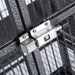 OHholly Cages à oiseaux Avancé 144 * 65 * 65CM pour perroquets, Canari, cacatoès, inséparables etc Nichoirs pour oiseaux divers, noir de la marque OHholly image 4 produit