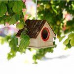 OMGO Nichoir pour Oiseaux Perroquet Perruche en Bois Nid Tressé en Herbe Maisonnette Naturel d'Oiseaux 01 de la marque OMGO image 2 produit