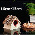 OMGO Nichoir pour Oiseaux Perroquet Perruche en Bois Nid Tressé en Herbe Maisonnette Naturel d'Oiseaux 01 de la marque OMGO image 3 produit