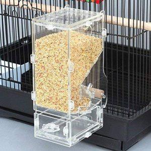 PAS DE saleté pour oiseaux Perroquet Mangeoire automatique intégrée avec perchoir Cage Accessoires pour perruche ondulée perruche calopsitte élégante Finch Canaries Graines de nourriture de la marque XMSSIT image 0 produit