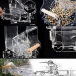 PAS DE saleté pour oiseaux Perroquet Mangeoire automatique intégrée avec perchoir Cage Accessoires pour perruche ondulée perruche calopsitte élégante Finch Canaries Graines de nourriture de la marque XMSSIT image 4 produit