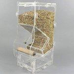 PAS DE saleté pour oiseaux Perroquet Mangeoire automatique intégrée avec perchoir Cage Accessoires pour perruche ondulée perruche calopsitte élégante Finch Canaries Graines de nourriture de la marque XMSSIT image 5 produit