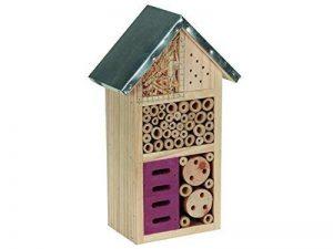 Perel bb50502M Hôtel à insectes en bois avec toit en métal–marron de la marque Perel image 0 produit