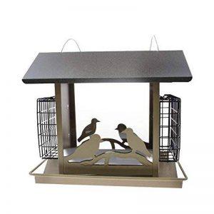 Pet Online Mangeoire d'oiseaux de cabine en métal imperméable à l'eau automatique extérieure de parc d'oiseau de la marque Pet Online image 0 produit